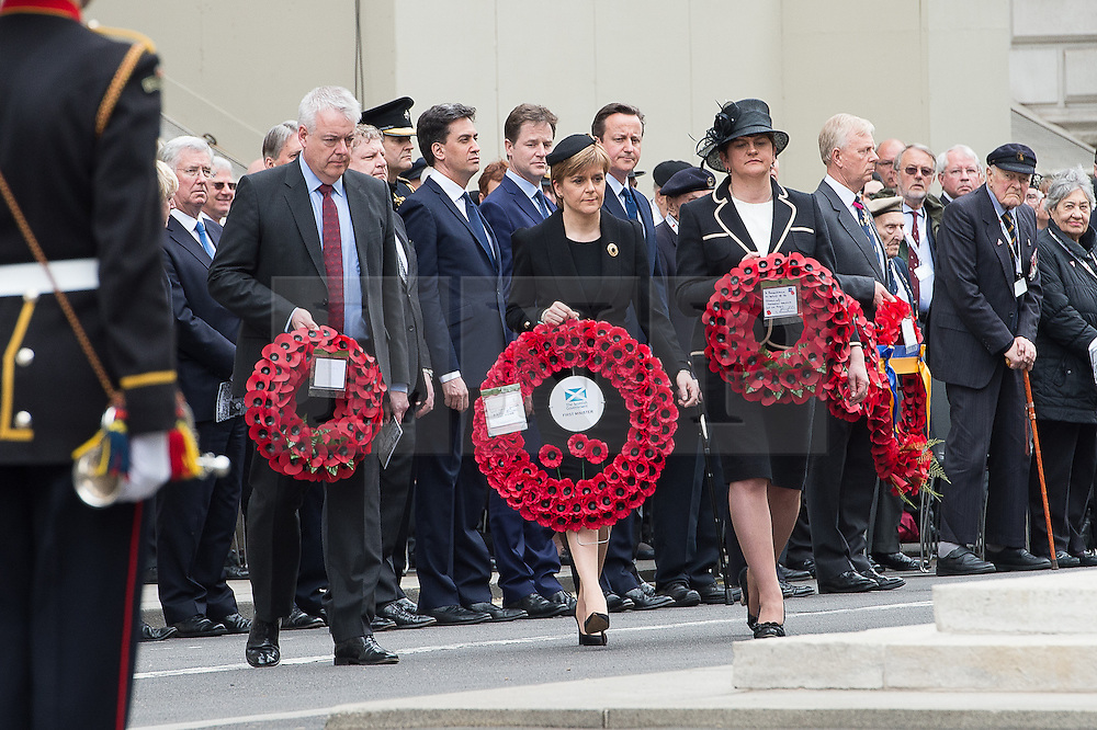 © London News Pictures. 08/05/15. London, UK. Political leaders attend the VE70 Service of Remembrance, Central London. Photo credit: Laura Lean/LNP/05/15. London, UK. XXX, Central London. Photo credit: Laura Lean/LNP