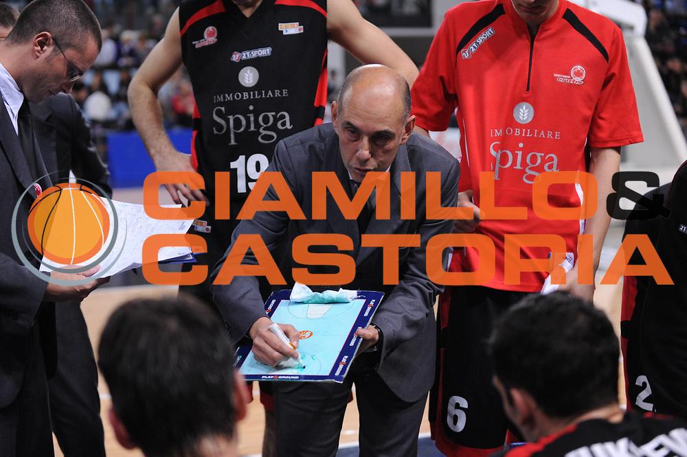 DESCRIZIONE : Rimini Legadue 2010-11 Immobiliare Spiga Rimini Umana Venezia<br /> GIOCATORE : Attilio Caja Team Rimini<br /> SQUADRA : Immobiliare Spiga Rimini<br /> EVENTO : Campionato Legadue 2010-2011<br /> GARA : Immobiliare Spiga Rimini Umana Venezia<br /> DATA : 14/11/2010<br /> CATEGORIA : timeout<br /> SPORT : Pallacanestro <br /> AUTORE : Agenzia Ciamillo-Castoria/M.Marchi<br /> Galleria : Lega Basket A2 2009-2010 <br /> Fotonotizia : Rimini Legadue 2010-11 Immobiliare Spiga Rimini Umana Venezia<br /> Predefinita :