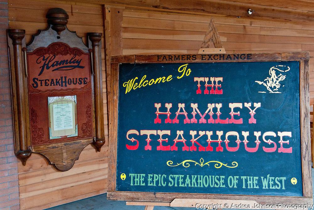 Hamley's steakhouse, Pendleton, eastern Oregon