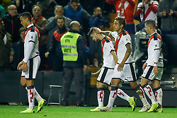 November 3, 2018 - Madrid, MADRID, SPAIN - Pozo of Rayo celebrates the goal during the Spanish Championship, La Liga, football match between Rayo Vallecano and FC Barcelona on November 03th, 2018 at Estadio de Vallecas in Madrid, Spain. (Credit Image: © AFP7 via ZUMA Wire)