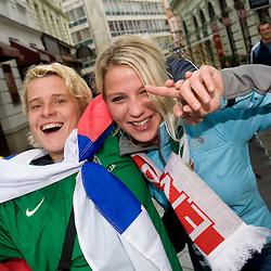 20091010: Football-Soccer - Slovenian fans in Bratislava, Slovakia