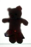 silhouette teddy bear with skirt down