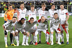 09.03.2010, Stadio Artemio Franchi, Florenz, ITA, UEFA Championsleague, AC Florenz vs Bayern Muenchen, im Bild die Startelf der Bayern, EXPA Pictures © 2010, PhotoCredit: EXPA/ InsideFoto/ Andrea Staccioli / for Slovenia SPORTIDA PHOTO AGENCY.