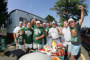 EAST RUTHERFORD, NJ - SEPTEMBER 12:  Jets fans tailgating at the New York Jets 2004 opening season game against the Cincinnati Bengals at Giants Stadium on September 12, 2004 in East Rutherford, New Jersey. The Jets defeated the Bengals 31-24. ©Paul Anthony Spinelli *** Local Caption *** Tailgating