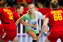 Barbara Lazovic of Slovenia during handball match between Women National Teams of Slovenia and Montenegro in 2016 Women's European Championship Qualification, on October 11, 2015 in Arena Kodeljevo, Ljubljana, Slovenia. Photo by Urban Urbanc / Sportida