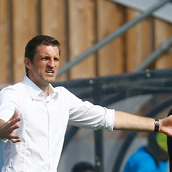 Wrexhams manager Sam Ricketts during the opening National League match between Dover Athletic and Wrexham FC at Crabble Stadium, Kent on 04 August 2018. Photo by Matt Bristow.