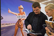 Buchmesse Frankfurt, biggest book fair in the World. Goliath erotic books.