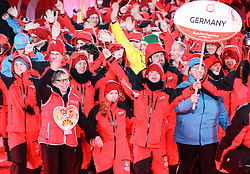 18.03.2017, Planai-Stadion, Schladming, AUT, Special Olympics 2017, Wintergames, Eröffnungsfeier, im Bild der Einmarsch der Delegation aus Deutschland // the delegation of Germany during the opening ceremony in the Planai Stadium at the Special Olympics World Winter Games Austria 2017 in Schladming, Austria on 2017/03/17. EXPA Pictures © 2017, PhotoCredit: EXPA / Martin Huber
