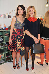 Left to right, EVA KARAYIANNIS and NATALIA VODIANOVA at the launch of the Natalia Dress, inspired by Natalia Vodianova to benefit her Naked Heart Foundation held at Caramel Baby&Child, 77 Ledbury Road, London W11 on 16th May 2012.