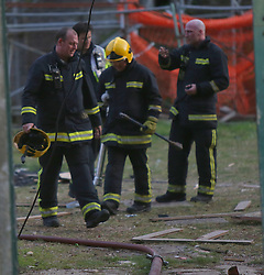 Gosport,Hampshire Sunday 9th May 2016 <br /> Two Fire Crews have managed to contain a blaze started by mindless arsonists at Fort Gilkicker in Stokes Bay  this evening.<br /> <br /> Fire Crews  from Fareham who just been stood down from fighting a blaze at Browndown Range were sent to the fire at the historic Palmerston Fort.<br /> <br /> Watch manager, Dave Higgins, stressed the importance of staying away from derelict buildings. He explained, &ldquo;It&rsquo;s obviously a very dangerous structure. Kids coming in and setting fire to these buildings can get themselves trapped really easily.<br /> <br /> &ldquo;There&rsquo;s a lot of fire loading in here, lots of extra wood plus aerosol cans and hazardous materials.&rdquo;<br /> <br /> Dave explained that the incident tied up Hampshire appliances and crews had been dealing with another incident as well.<br /> <br /> &ldquo;This has put firefighters&rsquo; lives at risk, it&rsquo;s put members of the public&rsquo;s lives at risk, just because of people who think it&rsquo;s funny to play in derelict buildings and start fires.<br /> <br /> &ldquo;As soon as I commit my firefighters to a derelict building I am committing them to all kinds of risks like falling through floors, collapsed structures. Equally if people are trapped in there, we will commit to rescue them and that puts my firefighters at risk too.<br /> <br /> &ldquo;Be sensible. Don&rsquo;t come into these places. If you see them open, report them to the council to have them boarded up. They are dangerous to everybody.&rdquo;<br /> <br /> An investigation will now take place.@UKNIP