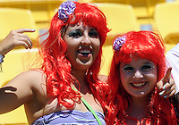 Fans at the IRB International Rugby Sevens, Westpac, Wellington, New Zealand, Friday, February 01, 2013. Credit:SNPA / Ross Setford