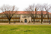 Topeka, Kansas KS USA, The Brown v. Board of Education National Historic Site at Monroe Elementary, the school Linda Brown was bussed to. The site was established in Topeka, Kansas on October 26, 1992 by the United States Congress to commemorate the landmark U.S. Supreme Court decision aimed at ending racial segregation in public schools.