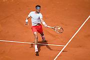Paris, France. Roland Garros. May 27th 2013.<br /> Spanish player Rafael NADAL against Daniel BRANDS