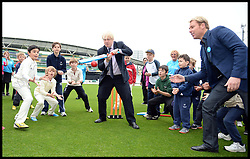 Mayor Boris and Shane Warne boost Olympic sporting and volunteering legacy at <br /> The Oval, London<br /> The Oval Cricket Ground, London<br /> Thursday, 30th May 2013<br /> Picture by Andrew Parsons / i-Images