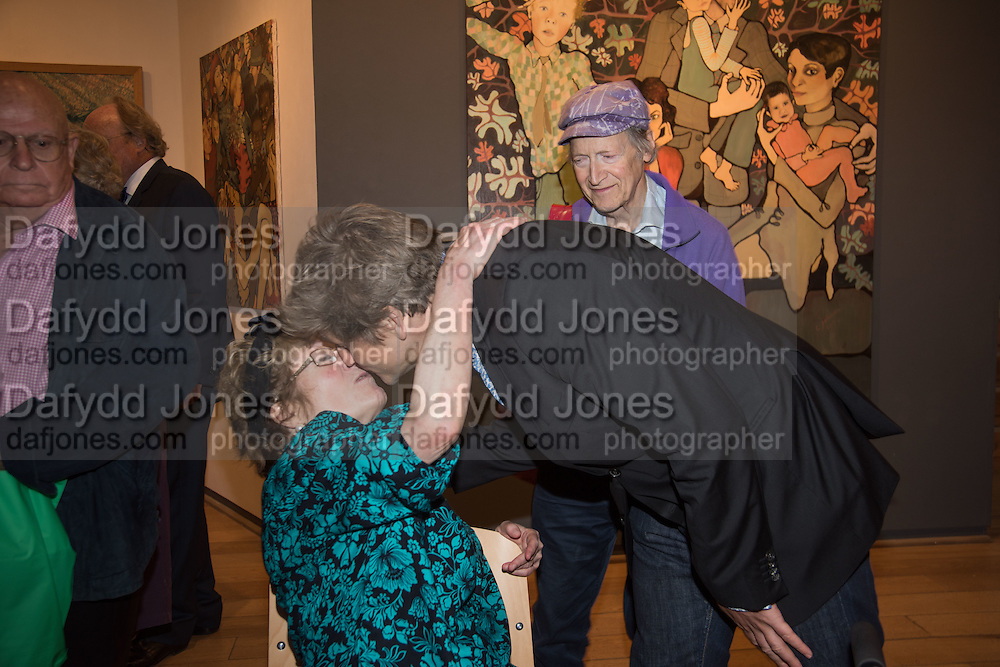 CHARLOTTE JOHNSON WAHL; LEO JOHNSON; MICHAEL HOROVITZ, Exhibition opening of paintings by Charlotte Johnson Wahl. Mall Galleries. London, 7 September 2015.