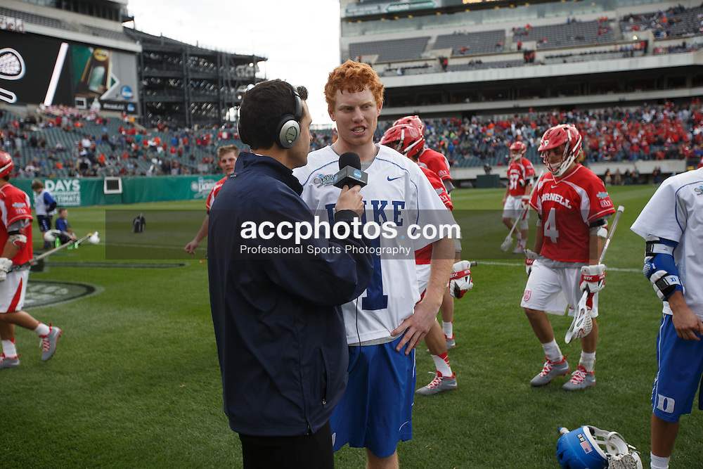 2013 May 25: Kyle Turri #1 of the Duke Blue Devils during a 16-14 victory over the Cornell Big Red in the NCAA semifinals at Lincoln Financial Field in Philadelphia, PA.