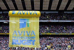 Aviva Premiership branding- Photo mandatory by-line: Rogan Thomson/JMP - 07966 386802 - 30/05/2015 - SPORT - RUGBY UNION - London, England - Twickenham Stadium - Bath Rugby v Saracens - 2015 Aviva Premiership Final.