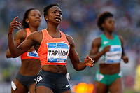 Jeneba TARMOH USA 200m Women Winner <br /> Roma 04-06-2015 Stadio Olimpico<br /> IAAF Diamond League 2015 Rome<br /> Golden Gala Meeting - Track And Field Athletics Meeting<br /> Foto Sebastian Seglingen / ARK / Insidefoto
