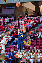 NORMAL, IL - November 03: Nolan Ebel defended by Malik Yarbrough during a college basketball game between the ISU Redbirds  and the Augustana Vikings on November 03 2018 at Redbird Arena in Normal, IL. (Photo by Alan Look)