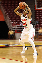 04 November 2015: Lexie Taylor(14). Illinois State University Women's Basketball team hosted The Lions from Lindenwood for an exhibition game at Redbird Arena in Normal Illinois.