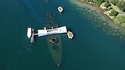 USS Missouri and USS Arizona, Pearl Harbor, Oahu, Hawaii