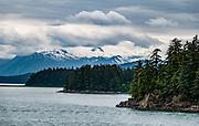 Auke Bay, on ferry (Alaska Marine Highway System) from Haines to Juneau, Alaska, USA.