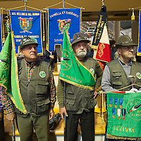 LONGARONE, ITALY - OCTOBER 09:  A group of Alpini stand during  the memorial for the Vajont victims on October 9, 2013 in Longarone, Italy. Today is the 50th anniversary of the Vajont disaster, which occurred on 9th October 1963, and is the worst landslide disaster in European history with 2000 people killed.  (Photo by Marco Secchi/Getty Images)