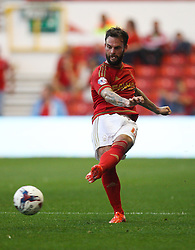 Danny Fox of Nottingham Forest in action - Mandatory byline: Jack Phillips / JMP - 07966386802 - 11/08/15 - FOOTBALL - The City Ground - Nottingham, Nottinghamshire - Nottingham Forest v Walsall - Football League Cup Round 1