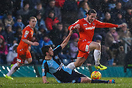 Luke Rooney of Luton Town (right) during the Sky Bet League 2 match at Adams Park, High Wycombe<br /> Picture by David Horn/Focus Images Ltd +44 7545 970036<br /> 26/12/2014