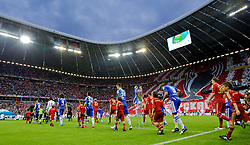 19.05.2012, Allianz Arena, Muenchen, GER, UEFA CL, Finale, FC Bayern Muenchen (GER) vs FC Chelsea (ENG), im Bild Bayern Munchen and Chelsea walk on to the pitch before the Final Match of the UEFA Championsleague between FC Bayern Munich (GER) vs Chelsea FC (ENG) at the Allianz Arena, Munich, Germany on 2012/05/19. EXPA Pictures © 2012, PhotoCredit: EXPA/ Propagandaphoto/ Vegard Grott..***** ATTENTION - OUT OF ENG, GBR, UK *****
