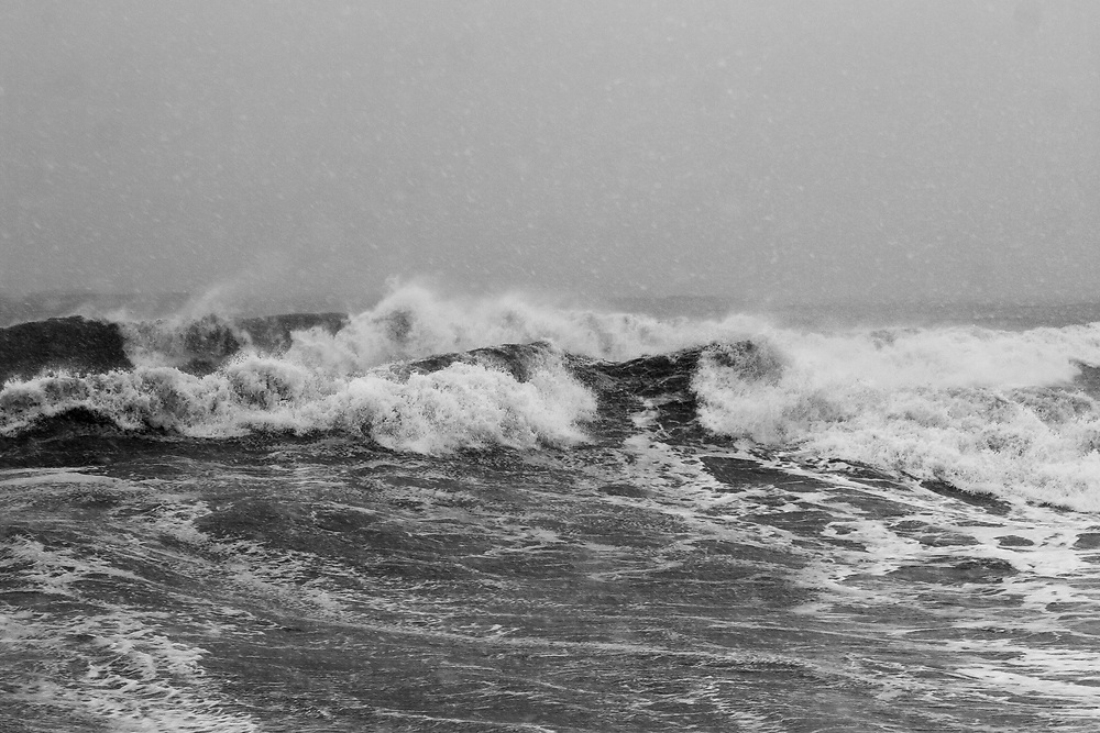 Ocean in Marblehead Massachusetts during a snowstorm. From the series Ancient Waves.