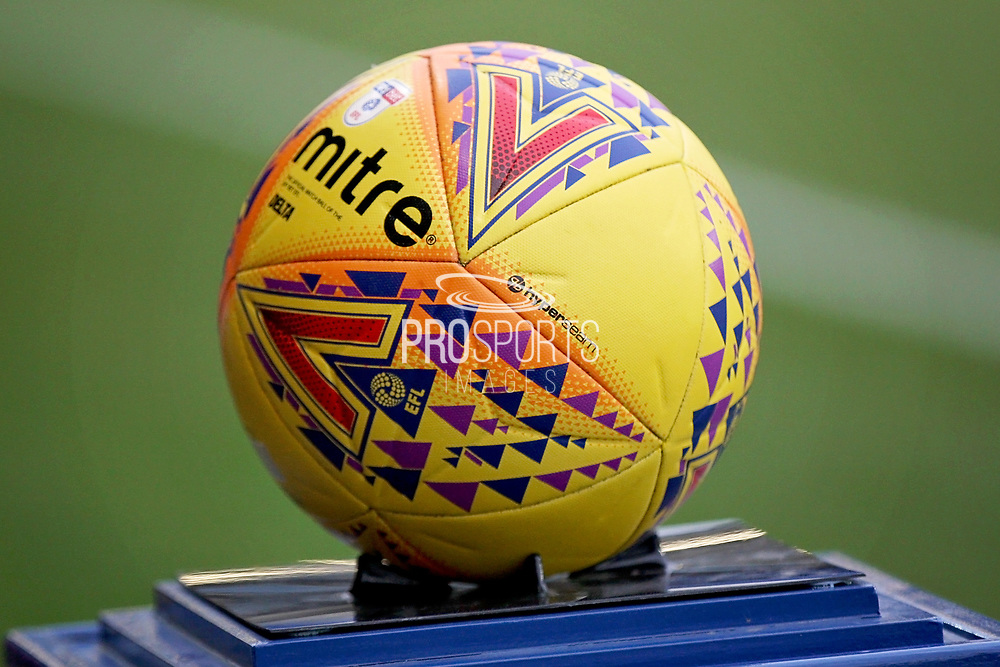 The EFL match ball before the EFL Sky Bet League 1 match between Peterborough United and Rochdale at London Road, Peterborough, England on 12 January 2019.