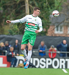 NEWTOWN, WALES - Saturday, May 2, 2015: The New Saints' Scott Quigley in action against Newtown during the FAW Welsh Cup final match at Latham Park. (Pic by Ian Cook/Propaganda)
