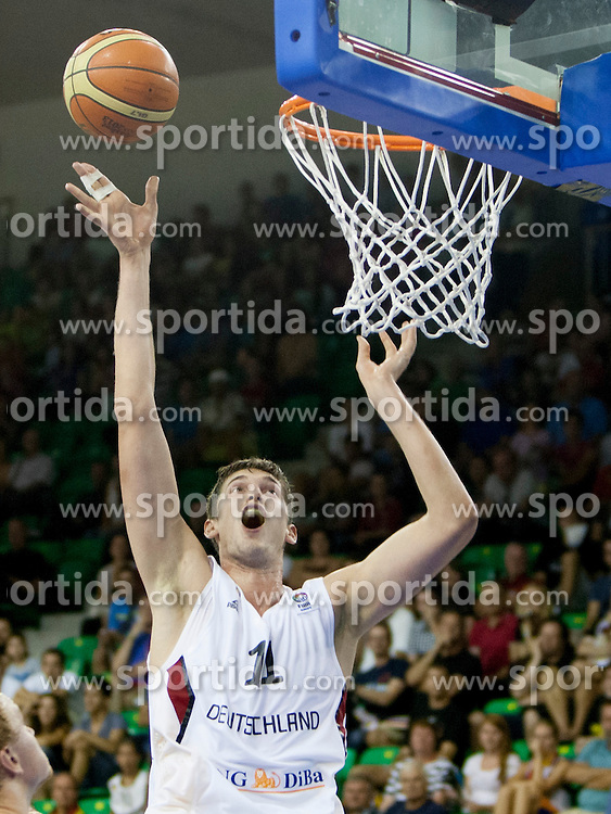 Tibor Pleiss #11 of Germany during basketball match between National teams of Germany and Ukraine at Day 3 of Eurobasket 2013 on September 6, 2013 in Tivoli Hall, Ljubljana, Slovenia. (Photo By Urban Urbanc / Sportida )
