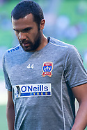 MELBOURNE, VICTORIA - JANUARY 06: Newcastle Jets defender Nikolai Topor-Stanley (44) looks on at the Hyundai A-League Round 11 soccer match between Melbourne City FC and Newcastle Jets on at AAMI Park in NSW, Australia 06 January 2019. (Photo by Speed Media/Icon Sportswire)