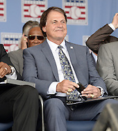 COOPERSTOWN, NY - JULY 27:  2014 Baseball Hall of Famer inducteeTony LaRussa looks on prior to the 2014 induction ceremonies held at the Clark Sports Center in Cooperstown, New York on July 27 2014.
