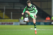 Forest Green Rovers Callum Evans(18) controls the ball during the EFL Trophy 3rd round match between Yeovil Town and Forest Green Rovers at Huish Park, Yeovil, England on 9 January 2018. Photo by Shane Healey.