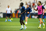 Chelsea midfielder Ngolo Kante (7) during the Chelsea Training session ahead of the 2019 UEFA Super Cup Final between Liverpool FC and Chelsea FC at BJK Vodafone Park, Istanbul, Turkey on 13 August 2019.