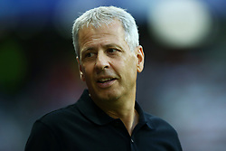 August 22, 2017 - Nice, France - Lucien Favre coach of Nice  during the UEFA Champions League Qualifying Play-Offs round, second leg match, between OGC Nice and SSC Napoli at Allianz Riviera Stadium on August 22, 2017 in Nice, France. (Credit Image: © Matteo Ciambelli/NurPhoto via ZUMA Press)