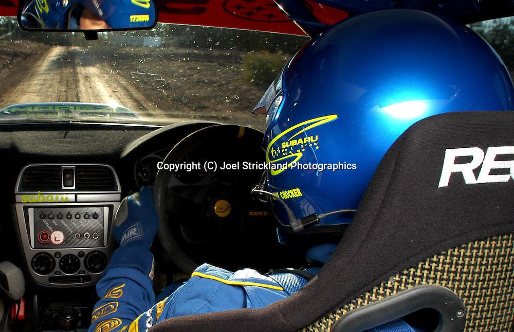 Cody crocker in car 2003 rally of canberra joel strickland for Crocker motors used cars