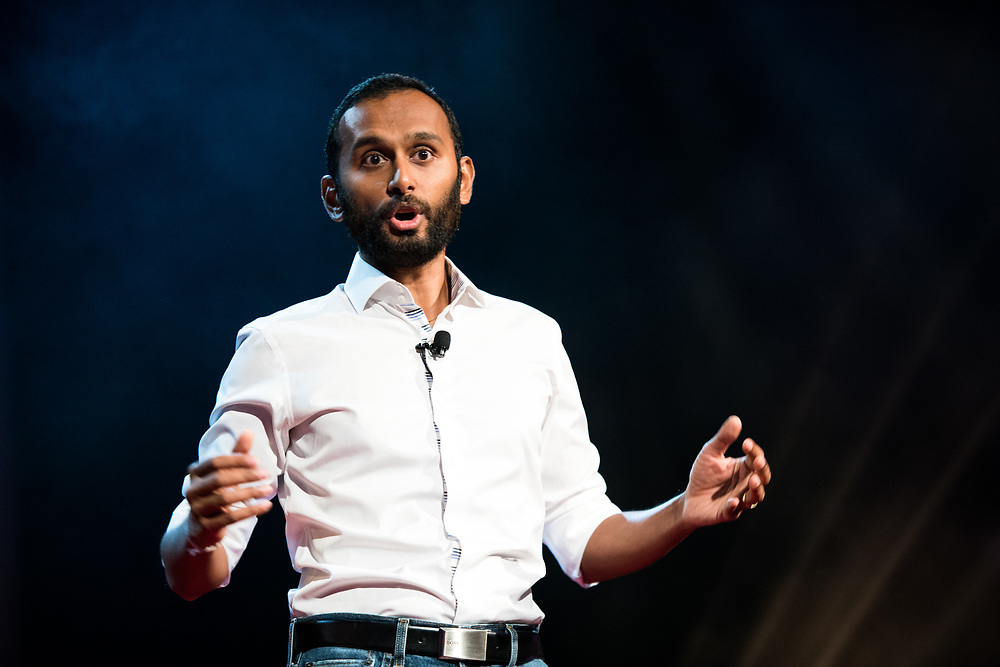 Saketaram Soussilane speaks during the TEDxWanChai event Emergence on Jun 2, 2018, in Hong Kong. / Moses Ng / MozImages