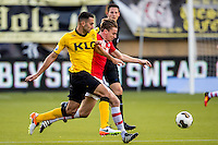 KERKRADE - 20-11-2016, Roda JC - AZ, Park Stad Limburg Stadion, 1-1, Roda JC speler Adil Auassar, AZ speler Ben Rienstra