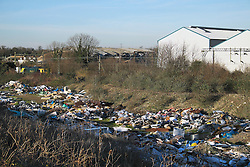 A huge fly tip in Purfleet, Essex