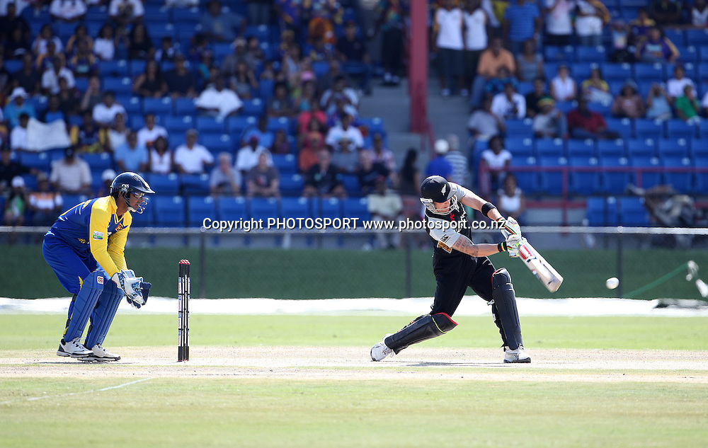 BB McCullum. New Zealand Black Caps v Sri Lanka, international exhibition Twenty 20 cricket match, Central Broward Regional Park, Florida, United States of America. 22 May 2010. Photo: Barry Bland/PHOTOSPORT