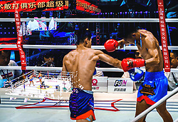 August 2, 2018 - Shanghai, Shanghai, China - Shanghai, CHINA-The Sanda Premier League (SPL) 2018 is held in Shanghai, China, July 27th, 2018. (Credit Image: © SIPA Asia via ZUMA Wire)
