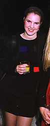 MISS VICTORIA AITKEN daughter of disgraced former MP Jonathan Aitken, at a party in London on 9th July 1998.MJA 25 WORO