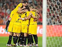 Fotball<br /> Tyskland<br /> 18.08.2011<br /> Foto: Witters/Digitalsport<br /> NORWAY ONLY<br /> <br /> 1:1 Jubel Torschuetze Frederic Kanoute (Sevilla)<br /> Fussball, Europa League, Play-offs, Hinspiel, Hannover 96 - FC Sevilla
