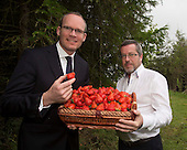 Minister Coveney with Wexford strawberries