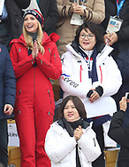 Ivanka Trump and South Korean first lady Kim Jung-sook attend the Men's Snowboarding Big Air Final at the Alpensia Ski Jumping Centre during day fifteen of the PyeongChang 2018 Winter Olympic Games in South Korea.
