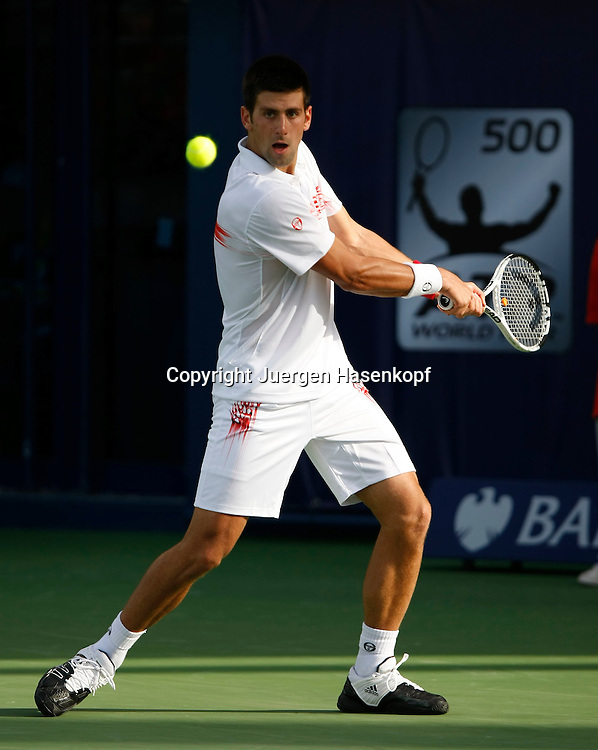Barclays Dubai Tennis Championships, ATP Tennis..Turnier, United Arab Emirates,V.A.E.,  Novak Djokovic (SRB), action,..Photo: Juergen Hasenkopf..